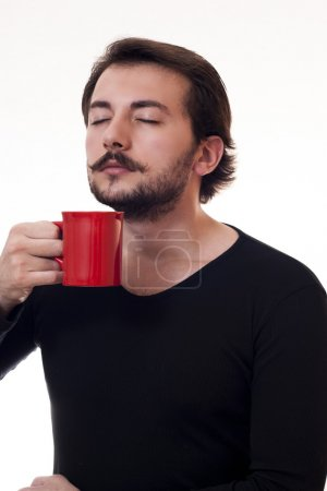 smelling coffee
