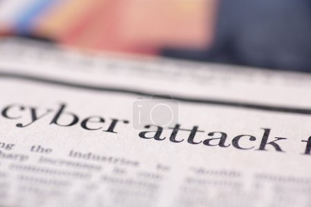 Cyber attack written newspaper
