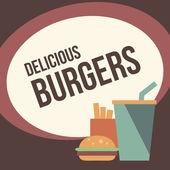 Retro burger background