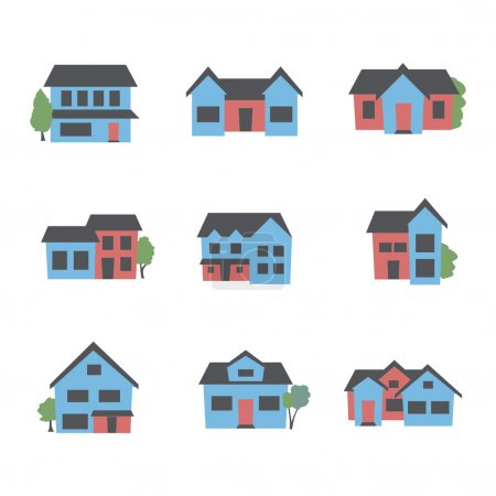 Illustration for Buildings icon set - Royalty Free Image
