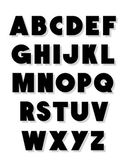 Bold alphabet font type Vector alphabet