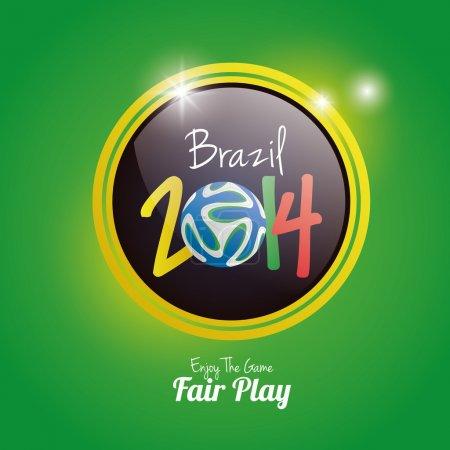 Soccer Illustration For Brazil 2014 Editable