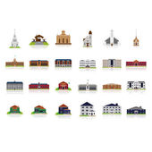 Vector Set Of Different Buildings Isolated On White Background