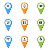 Vektoros illusztráció pin hely ikon