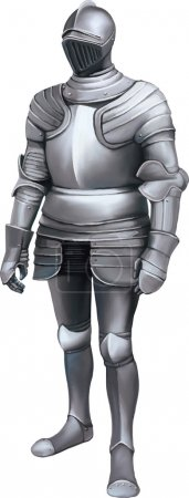 Medieval knight with full body armor...