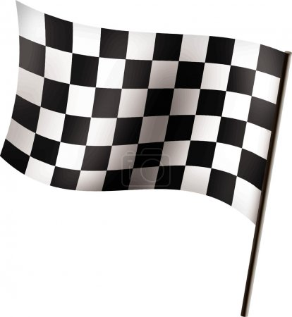 Vector illustration of Racing flag