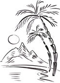 Black and white Vector illustration of traveling themes