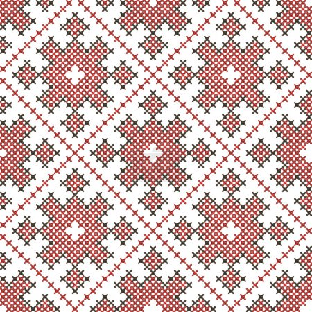 Seamless ethnic embroidered pattern