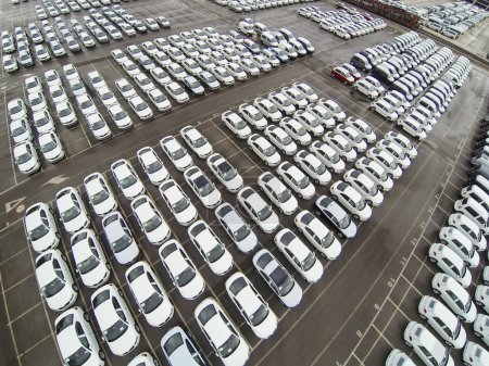 Parked cars from above