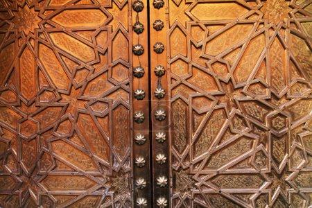 Photo pour Belles portes dorées au coucher du soleil prises au Maroc - image libre de droit