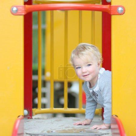 Girl having fun on the playground