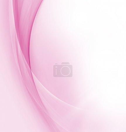 Foto de Olas Rosa abstractas sobre fondo blanco - Imagen libre de derechos