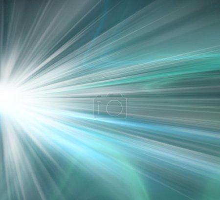 Photo pour Abstrait bleu avec effets de lumière - image libre de droit