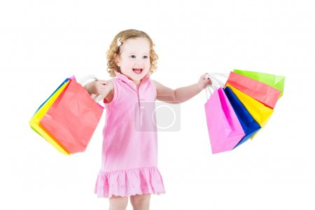 Girl is happy after sale