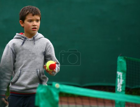 Little tennis great player