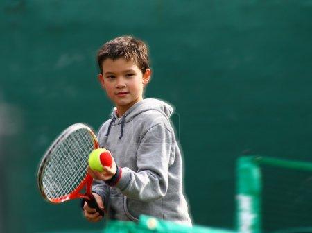Little tennis great player
