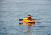 Kid kayaking first lessons
