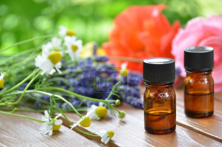 Herbal flowers and essential oils