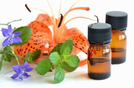 Photo pour Traitement d'aromathérapie avec des fleurs - image libre de droit