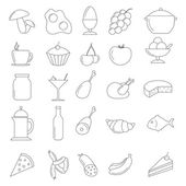 Line Food Icon set