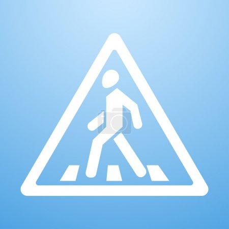 Illustration for Vector illustration of Crosswalk sign - Royalty Free Image