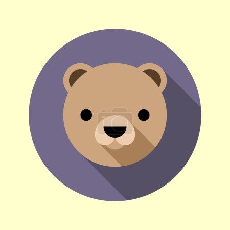 Cute little bear icon