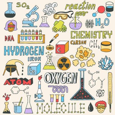 Chemistry. Hand drawn