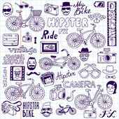 Hipsters and bikes set