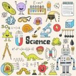 School science doodle set.  Hand drawn illustratio...
