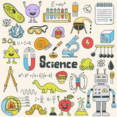 School science doodle set  Hand drawn illustration