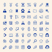 Simple business icons set Hand drawn