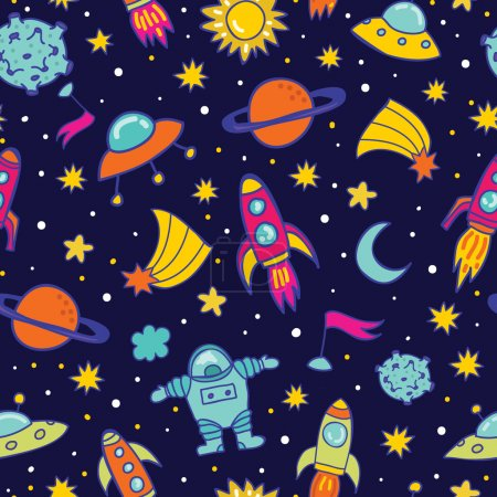 Vector space seamless pattern