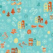 Winter cute seamless pattern