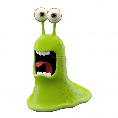 Yelling green Snail without shell