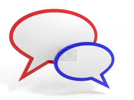 Bubble talk. Social media concept.