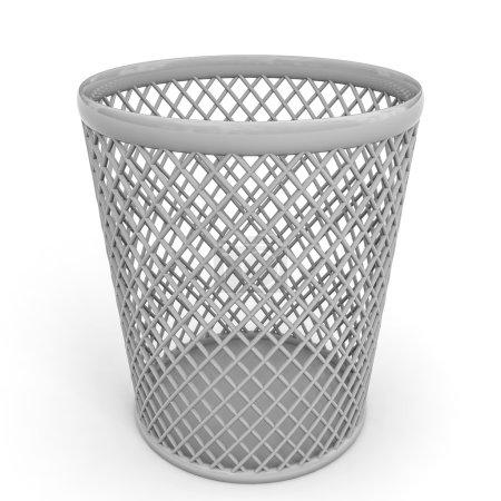 Empty trash can.