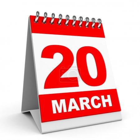 Calendar. 20 March.