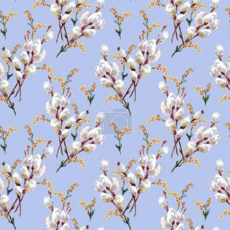 Photo pour Modèle sans couture printemps - image libre de droit