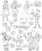 Oktoberfest doodles sketch hand drawn