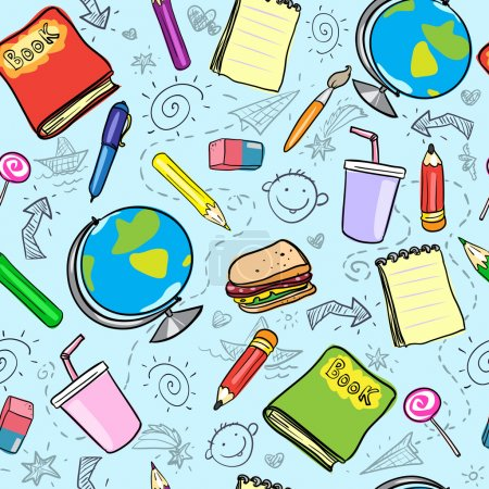Seamless school background, back to school pattern