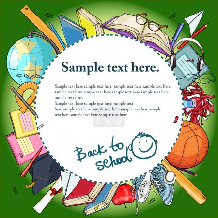 Illustration for Back to School background with sample text. - Royalty Free Image