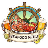 Seafood Grill label