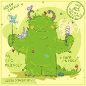 'Go Green' series with Green Monster