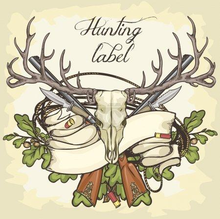 Hunting label design