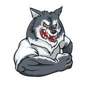 Wolf mascot team logo