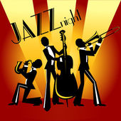 Abstract jazz band Jazz music party invitation design Vector illustration with sample text