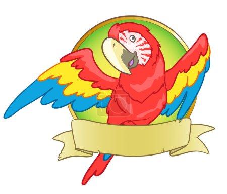 Cartoon macaw logo