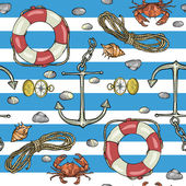 Nautical background Marine pattern