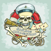 Sailor skull logo