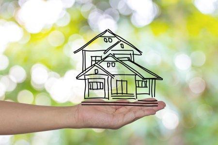 immobilier, technologie et hébergement concept - photo de ho